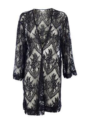 Ganni - Kjole - Larkin Lace Dress - Sort/Navy