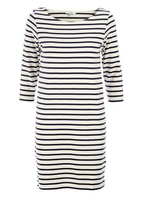 Ganni - Dress - Old Spice Jersey - Cream/Navy Stripe
