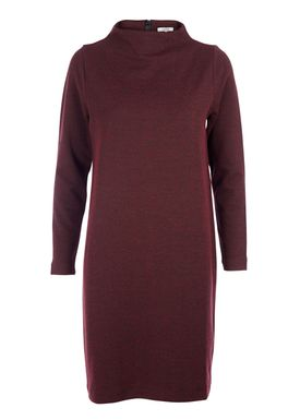 Ganni - Kjole - Wilkinson Knit Dress - Bordeaux/Sort Melange