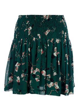 Ganni - Nederdel - Marietta Skirt - Pine Grove Leaves