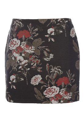 Ganni - Nederdel - O'Donnell Skirt - Sort m. Print