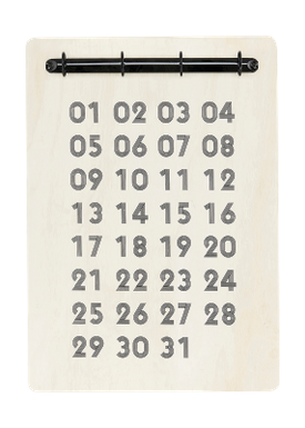 House Doctor - Kalender - Udklipsholder t. Evighedskalender - Kejsertræ