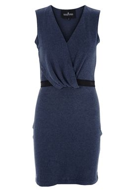 Designers Remix - Dress - Jeny V-neck - Dark Blue