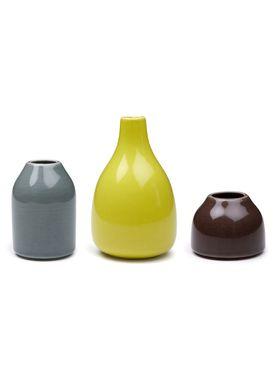 Kähler - Vase - Botanica Miniature 3-pak - Mørk