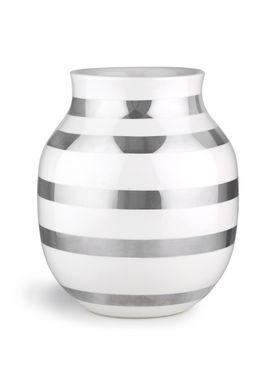 Kähler - Vase - Mellem Omaggio Sølv - Silver Stripe