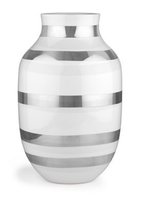 Kähler - Vase - Stor Omaggio Sølv - Sølv Strib
