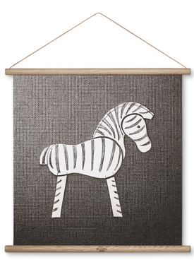 Kay Bojesen - Maleri - Zebra Print - Mellem