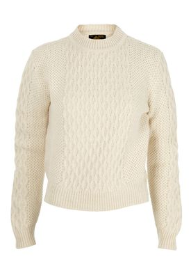 Le Mont Saint Michel - Strik - Cable Sweater - Offwhite