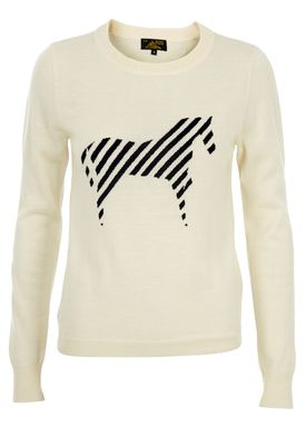 Le Mont Saint Michel - Knit - Intarsia Sweater - Offwhite