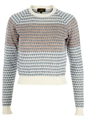 Le Mont Saint Michel - Knit - Pull Mini Triangles - Blue/Cream
