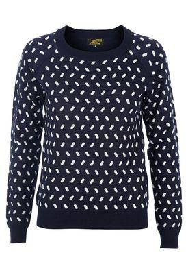 Le Mont Saint Michel - Knit - Tic Tac Urban Vintage Sweater - Navy/White