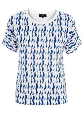 Le Mont Saint Michel - T-shirt - Wave Effect Tee - Blå/Hvid