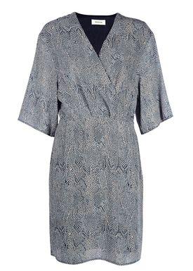 Modström - Kjole - Sara Print Dress - Blue Snake