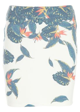 Modström - Skirt - Elanor Botanical - White w. Print