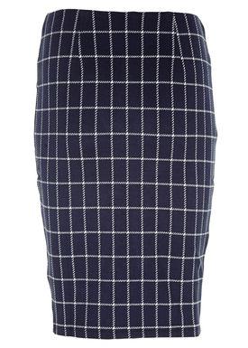 Modström - Nederdel - Gaz Skirt - Navy/Hvid Print