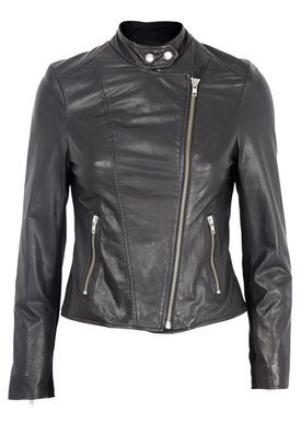 Muubaa - Jakke - Dauphine Suede and Leather Jacket - Sort