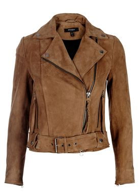 Muubaa - Jakke - Warren Belted Biker - Ash Brown