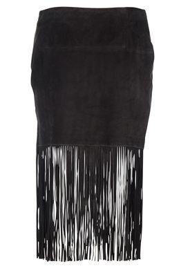 Muubaa - Nederdel - Milo Fringe Skirt - Sort