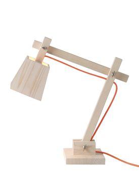 Muuto - Lampe - Wood Lamp - Orange