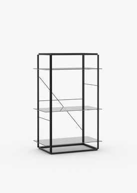 New Works - Hylde - Florence Shelf / Sidetable - Medium - Iron Black