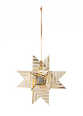 Ferm Living - Christmas Ornaments - Paper Star Stripes - Gold Stripe