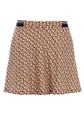Paul & Joe Sister - Skirt - Kitcat - Camel w. Print