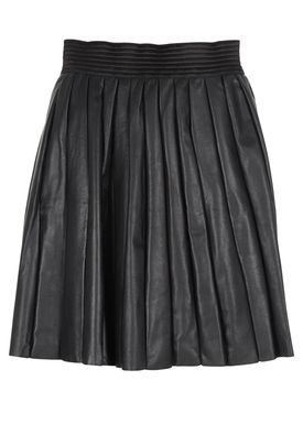 Designers Remix - Nederdel - Pli Leather Skirt - Sort