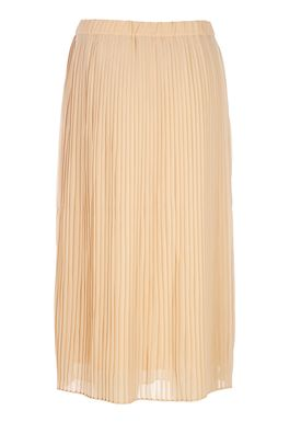 Selected Femme - Nederdel - Muki MW Pleated Skirt - Nude