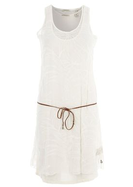 Maison Scotch - Kjole - Sheer Embroidered Dress - Råhvid