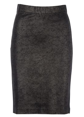 Filippa K - Nederdel - Shiny Coated Pencil Skirt - Coated Sort
