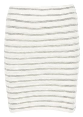 Stig P - Skirt - Amalie Stripe - White/Ligth Grey Stripe