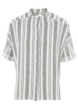 Stig P - T-shirt - Johannah - Hvid/Sort Strib