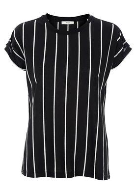 Stig P - T-shirt - Luce - Sort/Hvid Pinstripe