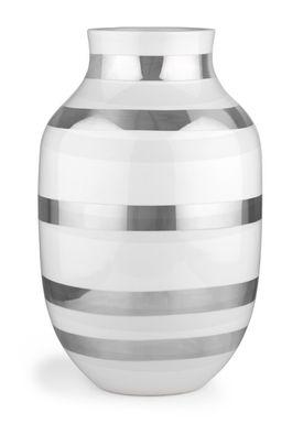 Kähler - Vase - Stor Omaggio Sølv - Silver Stripe (Del. June)