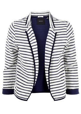 Maison Scotch - Cardigan - Stripe Jersey Blazer - Navy/Hvid Strib