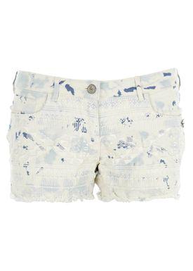 Maison Scotch - Shorts - Summer Short w. Embroidered Front - Blå
