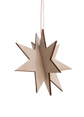 Ferm Living - Christmas Ornaments - Wooden Star - Birch - Birch - Medium