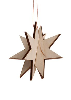 Ferm Living - Christmas Ornaments - Wooden Star - Birch - Birch - Small