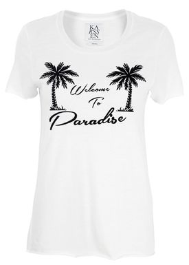 Zoe Karssen - T-shirt - Loose Fit Embroidery Paradise - Hvid