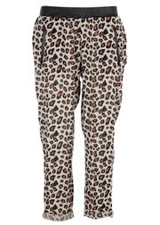 Maison Scotch - Pants - Beach pant with Leather Waistband - Leopard Print