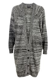 5Preview - Cardigan - Knitted Oversized Cardigan - Dark Grey Melange