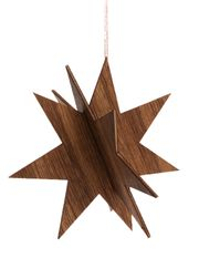 Ferm Living - Christmas Ornaments - Wooden Star - Smoked Oak - Smoked Oak - Large