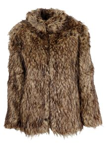 POP cph - Jacket - Faux Fur Jacket - Brown