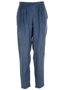 Cupro Trousers Pants Dusty Blue