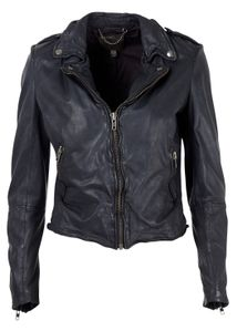 Muubaa - Jacket - Sabi Fitted Biker - Midnight Navy