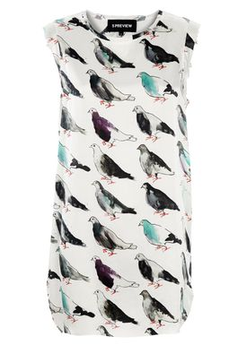 5Preview - Dress - Swift - White/Print