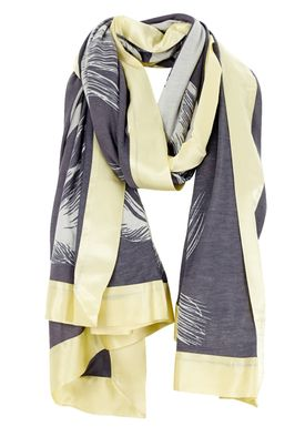 Mind of Line - Scarf - Feathers - Dark Grey/Yellow