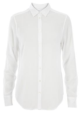 Filippa K - Shirt - Cotton Crepe Shirt - White
