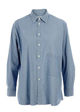 HOPE - Skjorte - Elma Blouse - Denim Blue