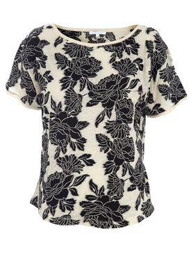 Patrizia Pepe - T-shirt - 2M3245/A1JL/F2YR - Cream/Black